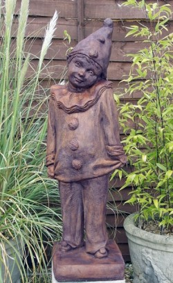 Picture of Clown Garden Statue Burnt Umber Finish