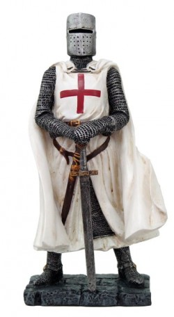 Picture of Crusader Knight Standing Figurine NEW