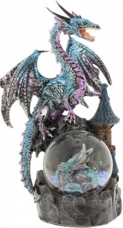 Picture of Ice Blue Mystic Legends Dragon on Waterglobe (Juliana)