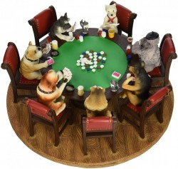 Picture of Dogs Playing Poker Figurine Fantastic Detail