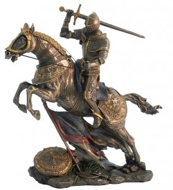 Picture of Mounted Knight Attacking Bronze Figurine