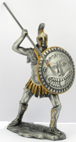 Picture of Spartan Warrior with Spear Pewter Figurine