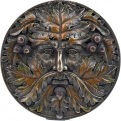 Picture of Autumn Tree Spirit Wall Plaque Green Man