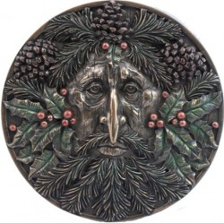 Picture of Winter Green Man Wall Plaque