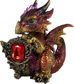 Picture of Ruby Dragonling Figurine (Alator) 12cm