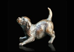 Picture of Labrador Puppy Playing Small Figurine (Limited Edition) Michael Simpson LAST FEW LEFT