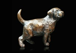 Picture of Labrador Puppy Standing Small Figurine (Limited Edition) Michael Simpson