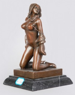 Picture of Lady Undressing Bronze Figure
