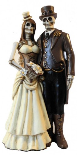 Picture of I Do Skeleton Wedding Figurine
