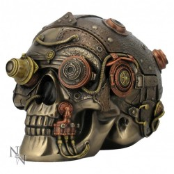Picture of Steampunk Enhancer Skull Bronze Secret Box