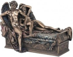 Picture of Cupid and Psyche Bronze Statue Jacques Louis David
