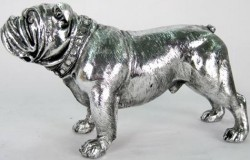 Picture of Silver Bulldog Standing 27cm