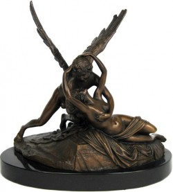 Picture of Cupid and Psyche Bronze Sculpture On Marble Base