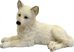 Picture of Winter Wolf Pup Figurine 12cm