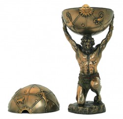 Picture of Atlas Bronze Figurine and Trinket Box 32 cm