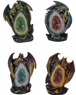 Picture of Geode Keepers Figurine (Set of 4) Light Features
