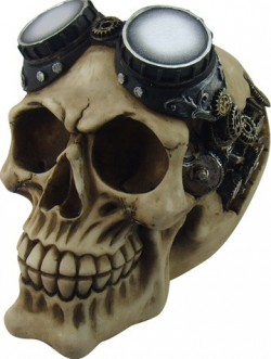 Picture of Goggles Steampunk Skull Ornament New