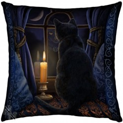 Picture of Midnight Vigil Cat Cushion (Lisa Parker)