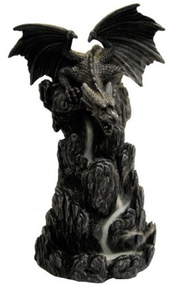 Picture of Dragon Incense Tower 20cm with Backflow Incense Cone