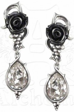 Picture of Bacchanal Rose Dropper Stud Earrings (Pair)