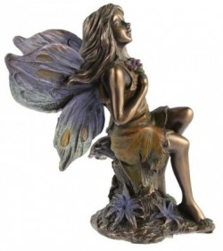 Picture of Woodland Fairy Sitting Bronze Figurine
