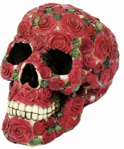 Picture of The Red Rose Skull Ornament