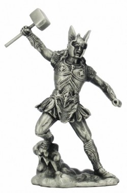 Picture of Thor with Hammer Pewter Figurine