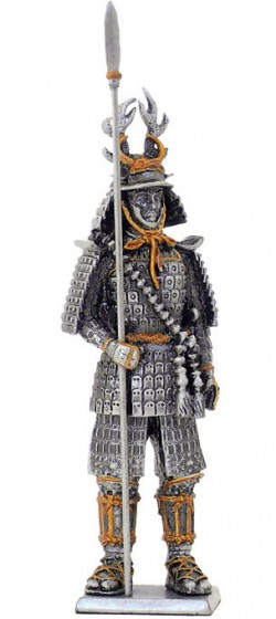 Picture of Samurai Warrior with Spear Pewter Figurine NEW