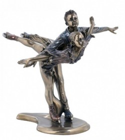 Picture of Ice Skating Bronze Figurine Austrian Waltz