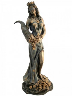 Picture of Goddess Fortuna Bronze Figurine Tykhe 29 cm