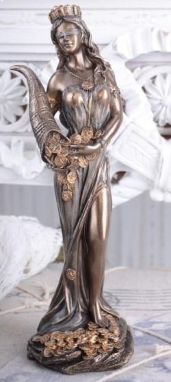Picture of Goddess Fortuna Bronze Figurine Tykhe 20 cm