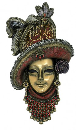Picture of Venetian Mask Red Hat Wall Decor (Genesis Fine Arts)