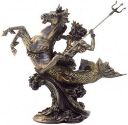 Picture of Poseidon God of the Sea Bronze Figurine 31 cm