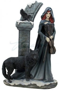 Picture of Cloaked Gothic Lady Figurine 38 cm Large