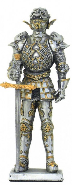 Picture of French Knight with Great Sword Pewter Figurine