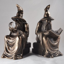 Picture of Bronze Wizard Bookends