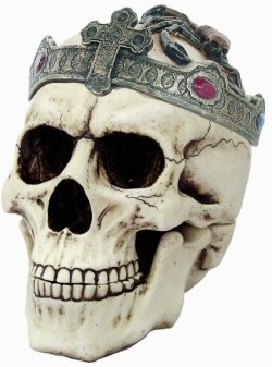 Picture of Old Dead King Skull Ornament 18 cm