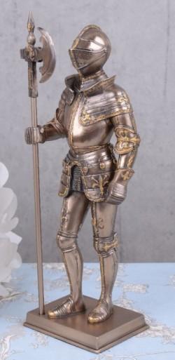 Picture of Knight Bronze Figurine Halberd 11 inches