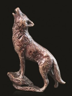 Picture of Wolf Bronze Miniature (Butler and Peach)