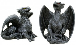 Picture of Dark Dragon Figurines (Set of 2) 10cm
