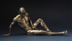 Picture of Resting Nude Male Alone Bronze Figurine