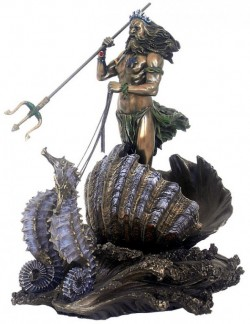 Picture of Poseidon God of the Sea Seahorse Chariot Bronze Figurine 30 cm