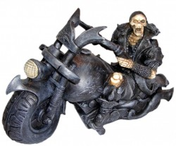 Picture of Screaming Wheels Skeleton Biker Ornament 18 cm