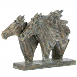 Picture of Three Horse Heads Bronze Sculpture 47 cm