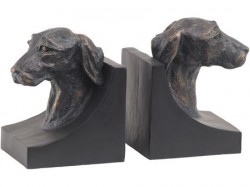 Picture of Jack Russell Dog Head Bronze Bookends