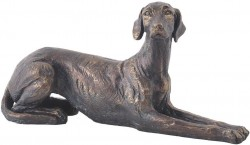 Picture of Lying Down Dog Bronze Sculpture