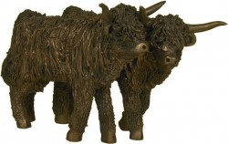 Picture of Highland Cattle Heifers Bronze Sculpture Medium