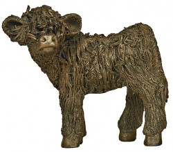 Picture of Highland Calf Standing Bronze Sculpture