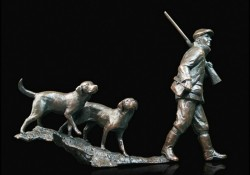 Picture of In the Field Bronze Figurine (Limited Edition) Michael Simpson