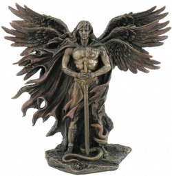Picture of Guardian Angel Bronze Figurine 28 cm
